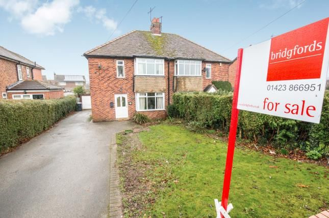 Thumbnail Semi-detached house for sale in Wetherby Road, Knaresborough, North Yorkshire, .