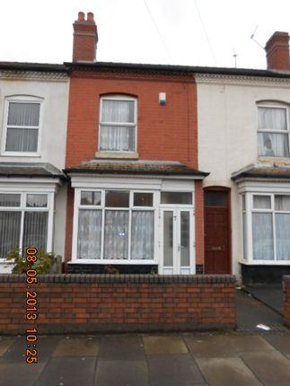 Thumbnail Terraced house for sale in Burlington Road, Small Heath