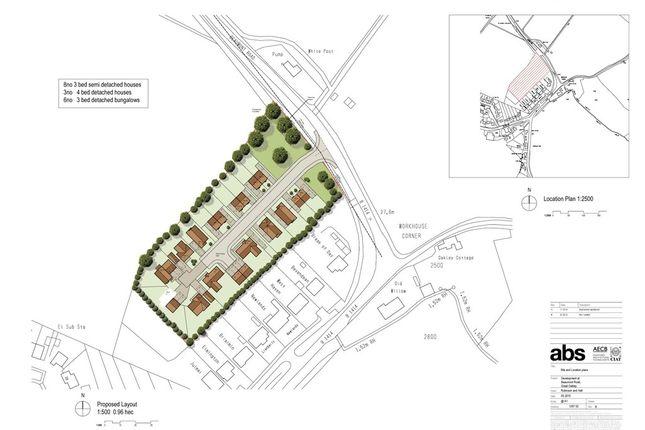 Thumbnail Land for sale in Beaumont Road, Great Oakley, Harwich