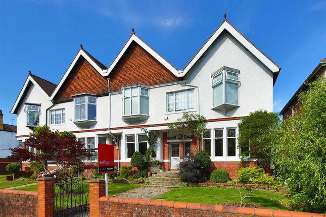 Thumbnail Semi-detached house for sale in Lake Road West, Cyncoed, Cardiff