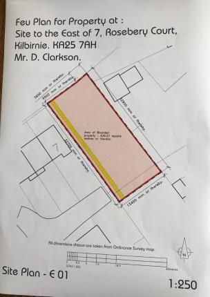 Site Plan of Cochrane Street, Kilbirnie, North Ayrshire, Scotland KA25