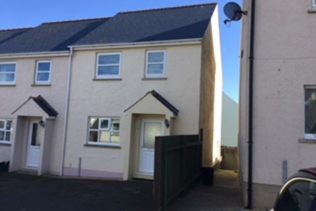 Thumbnail End terrace house to rent in Cae Gerddi, Goodwick