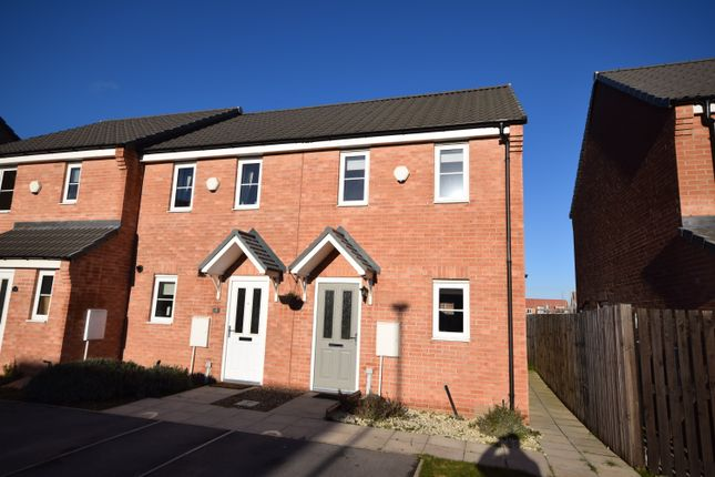 Thumbnail End terrace house to rent in The Bungalows, Whitehouse Road, Harworth, Doncaster