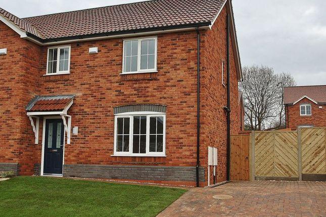 Thumbnail Semi-detached house for sale in Hopfield, Hibaldstow, Brigg
