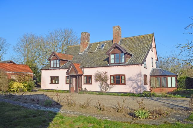 Thumbnail Farmhouse for sale in The Street, Gillingham, Beccles