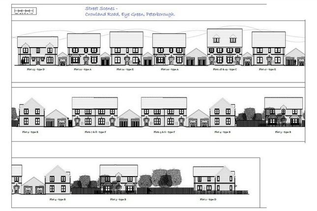 Thumbnail Land for sale in Crowland Road, Eye Green, Peterborough