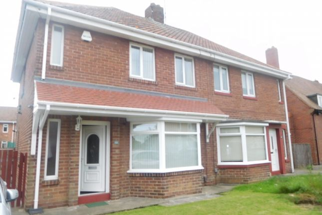 Thumbnail Semi-detached house to rent in Elmtree Gardens, Whitley Bay