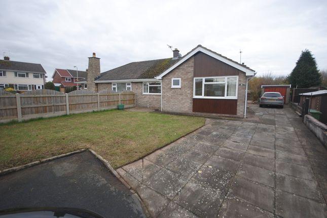Thumbnail Semi-detached bungalow to rent in Birch Close, Longford Gardens, Market Drayton