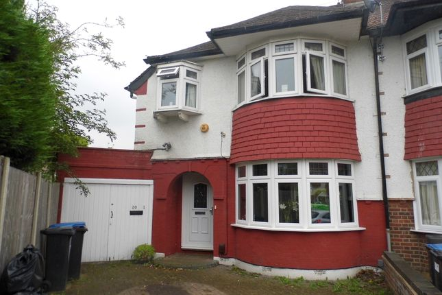 Thumbnail Semi-detached house for sale in Rowantree Close, Winchmore Hill