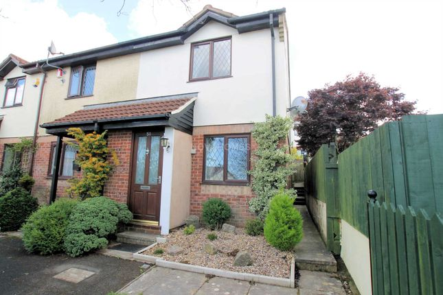 Thumbnail End terrace house for sale in Redwood Drive, Plymouth