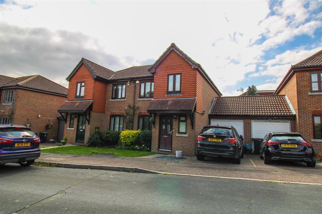 Thumbnail Semi-detached house for sale in Green Close, Epping Green, Epping