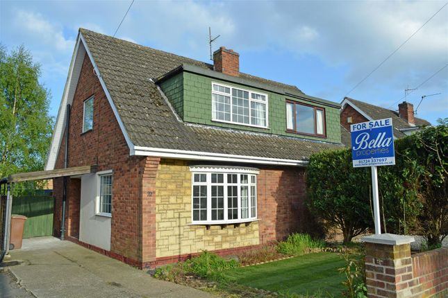 Semi-detached house for sale in Meadow Road, Scunthorpe