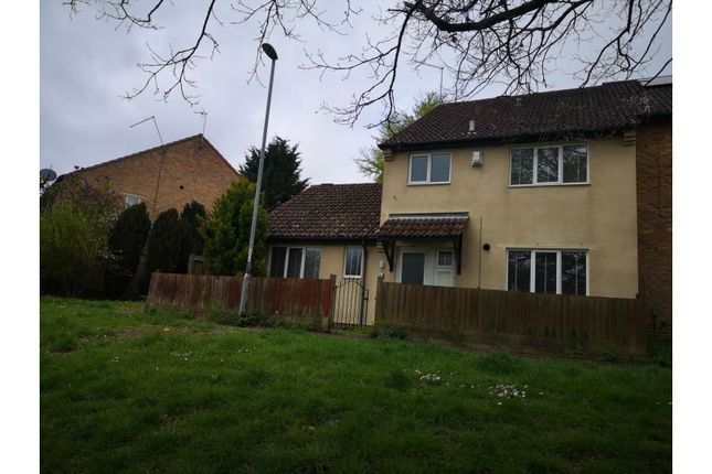 Thumbnail End terrace house to rent in Ermine Road, Northampton