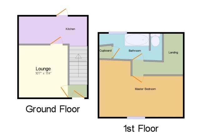 Floorplan of Selbourne Terrace, Darlington, Co Durham DL3