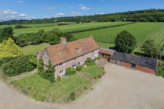 Thumbnail Farmhouse to rent in Squerryes Estate, Westerham