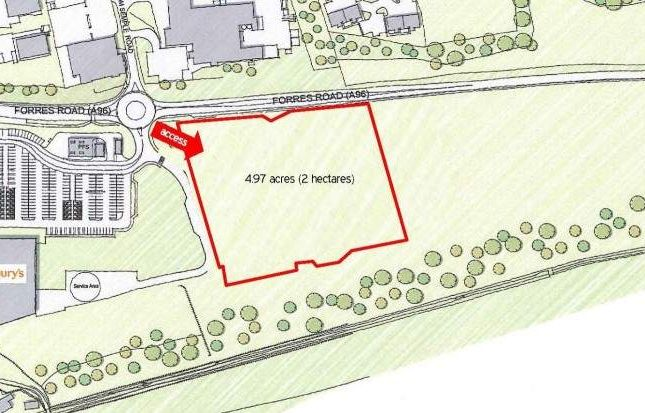 Land to let in Forres Road, Nairn