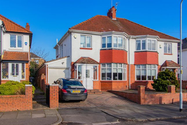 Thumbnail Semi-detached house for sale in Granville Avenue, Cardiff