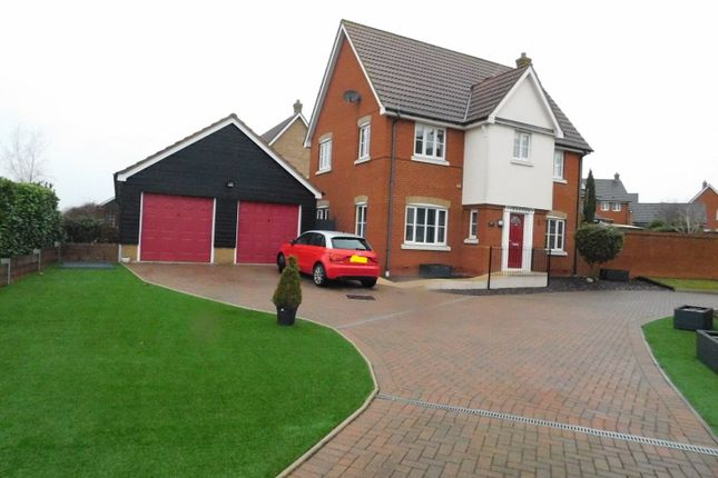 Thumbnail Detached house for sale in Dunnock Close, Stowmarket