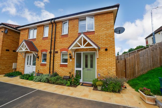 Thumbnail Semi-detached house for sale in Aluminium Close, Rogerstone, Newport