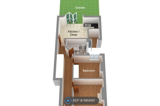 3d Layout of Priory Road, London N8