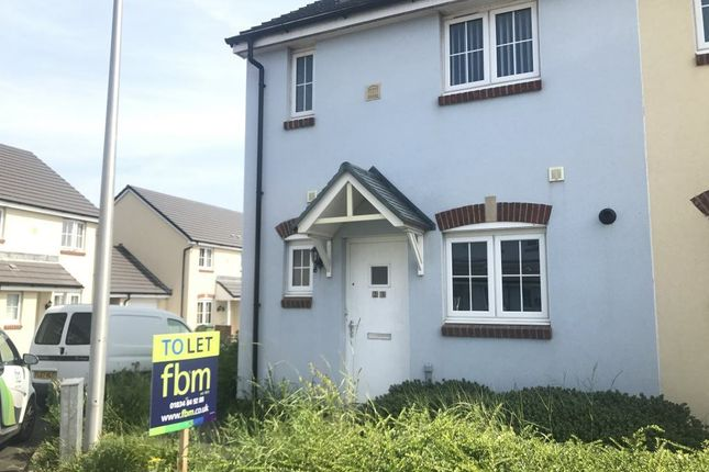 Thumbnail Terraced house to rent in Belfrey Close, Milford Haven, Pembrokeshire