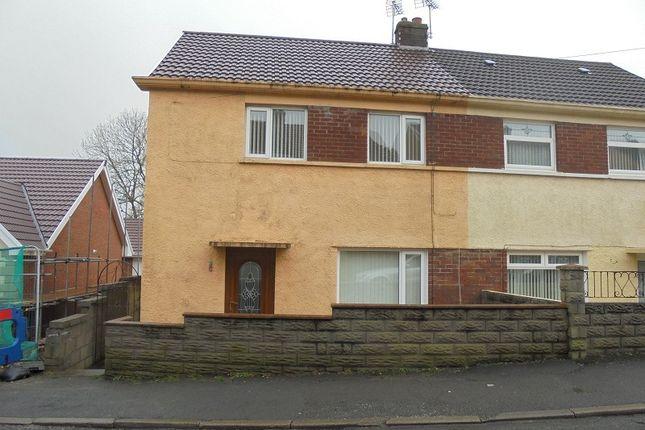 Thumbnail End terrace house to rent in Heol-Y-Foelas, Bridgend, Bridgend.