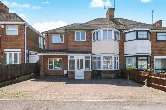 Thumbnail Semi-detached house for sale in Wicklow Drive, Leicester