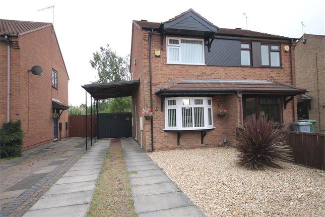 Thumbnail Semi-detached house for sale in Heron Way, Balderton, Newark, Nottinghamshire.