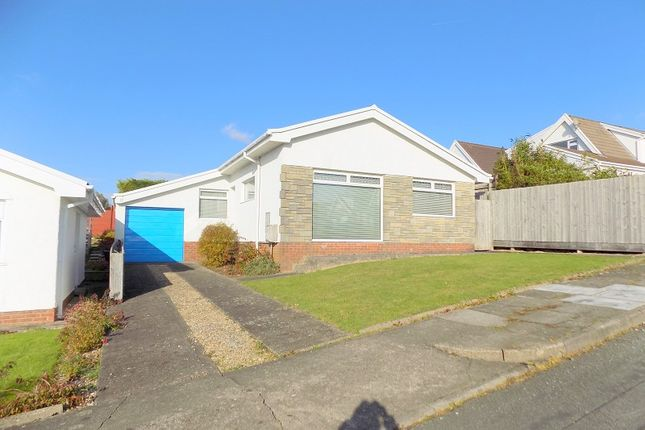 Thumbnail Detached bungalow for sale in Leiros Parc Drive, Rhyddings, Neath, Neath Port Talbot.