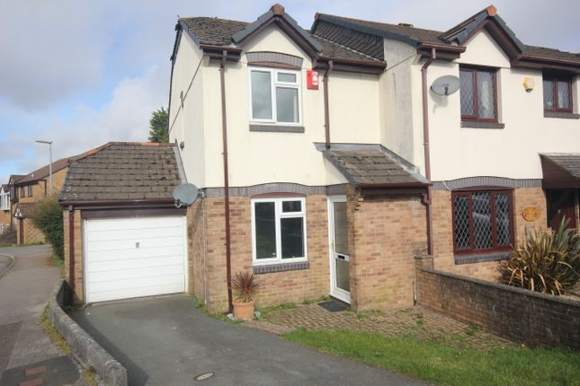 Thumbnail Semi-detached house to rent in Coombe Road, Callington