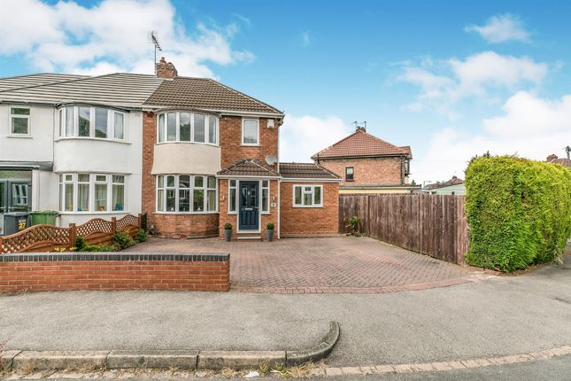 Thumbnail Semi-detached house for sale in Springfield Crescent, Solihull