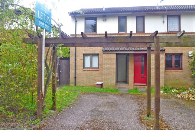 Thumbnail 1 bed end terrace house to rent in Hadley Place, Bradwell Common, Milton Keynes