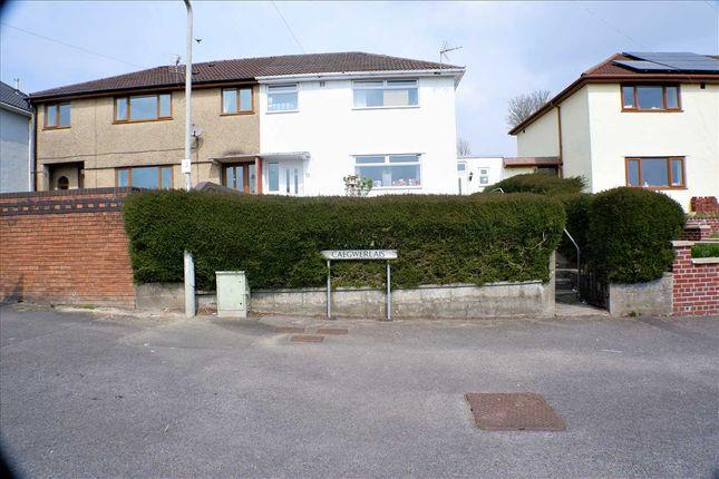 Semi-detached house for sale in Cae'r Gwerlas, Tonyrefail, Porth