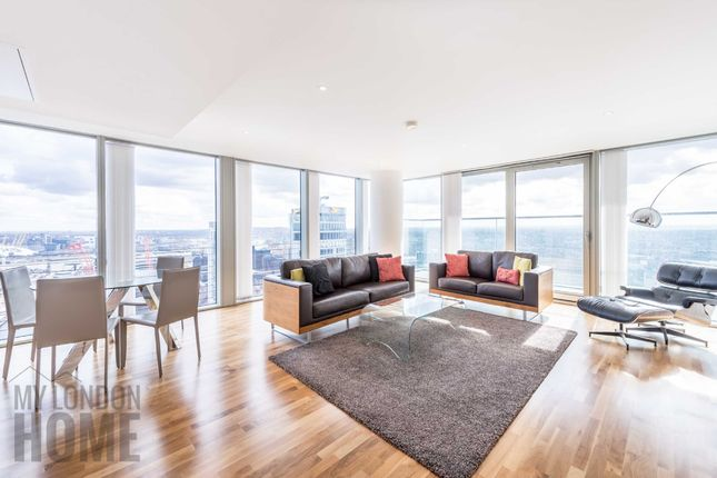 Thumbnail Flat to rent in Landmark East Tower, Marsh Wall, Canary Wharf, London
