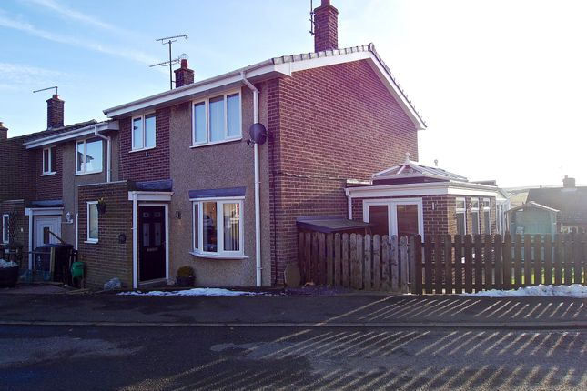 Thumbnail End terrace house for sale in Brierley Gardens, Otterburn, Newcastle Upon Tyne