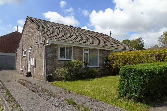 Thumbnail Semi-detached bungalow for sale in Heol Y Drudwen, Parc Gwernfadog, Swansea