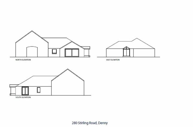 Thumbnail Detached bungalow for sale in Stirling Street, Denny