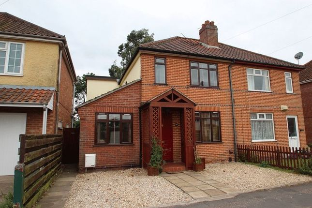 Thumbnail Semi-detached house for sale in Woodland Road, Hellesdon, Norwich