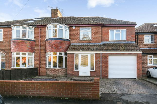 Thumbnail Semi-detached house for sale in Hunters Way, Dringhouses, York
