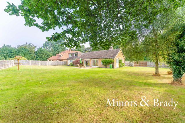 Thumbnail Detached bungalow for sale in Norwich Road, Strumpshaw, Norwich