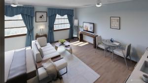 1 bedroom flat for sale in 10-12 Queens Promenade, Blackpool, Lancashire
