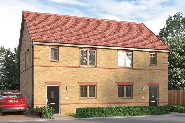 "Thumbnail Semi-detached house for sale in ""The Pembridge"" at Ward Road, Clipstone Village, Mansfield"