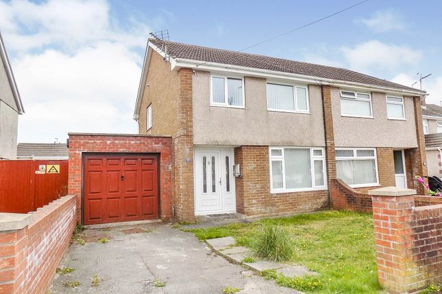 Thumbnail Semi-detached house for sale in Woodland Place, North Cornelly, Bridgend .