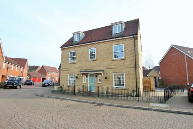 Thumbnail Detached house for sale in Carus Crescent, Highwoods, Colchester, Essex