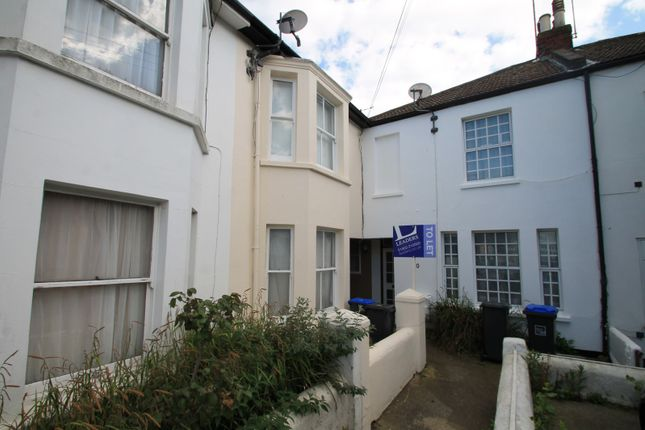 Thumbnail End terrace house to rent in Stanhope Road, Worthing
