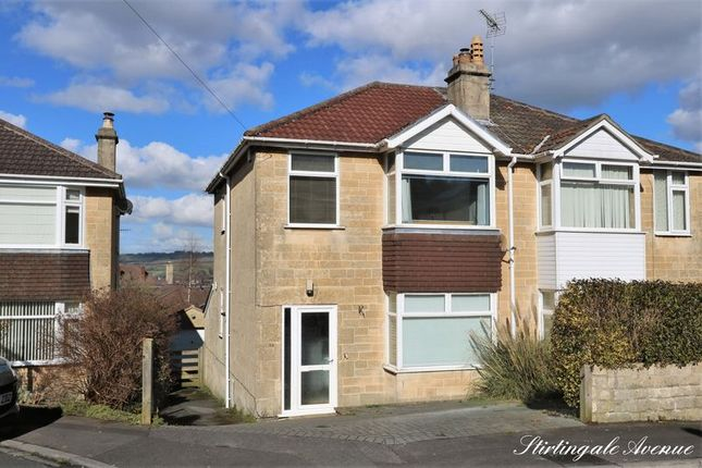 Thumbnail Semi-detached house for sale in Stirtingale Avenue, Bath
