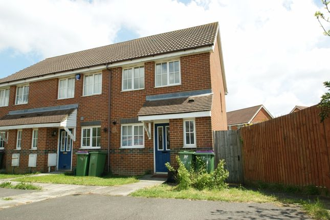 Thumbnail End terrace house to rent in Mitchell Avenue, Hawkinge, Folkestone