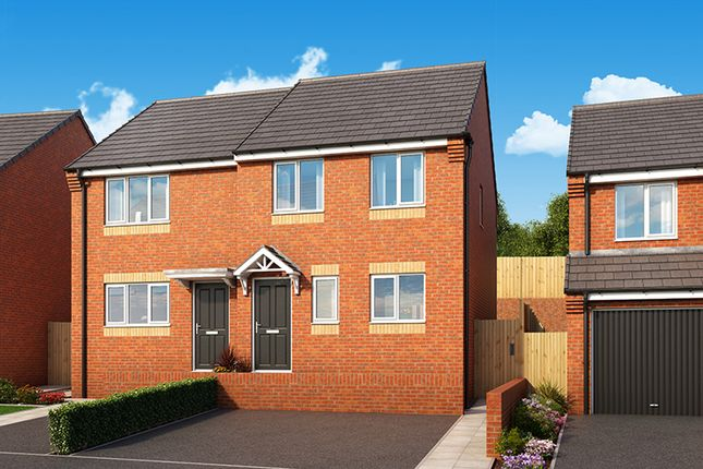 "Thumbnail Semi-detached house for sale in ""The Hawthorn"" at Palmer Road, Dipton, Stanley"
