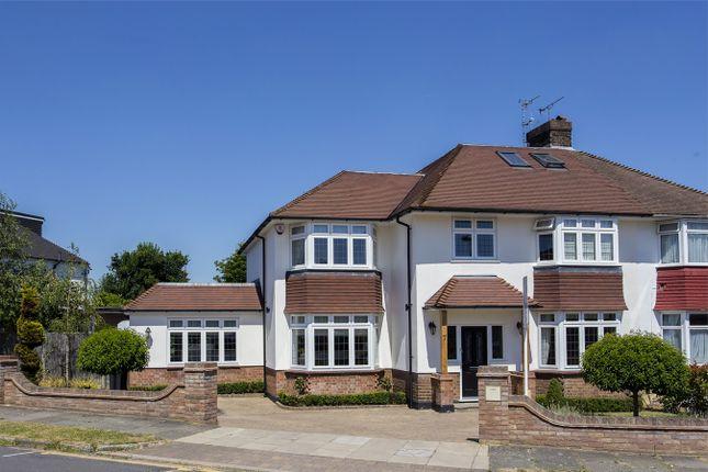 Thumbnail Semi-detached house for sale in Cranleigh Gardens, Grange Park