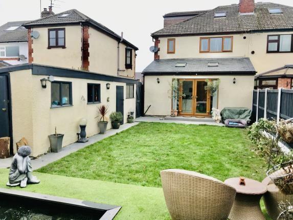 Garden of Moorcroft Crescent, Guilden Sutton, Chester, Cheshire CH3